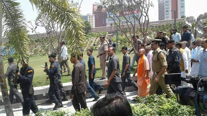 C.M. Yogi Adityanath on Monday inspected Gomti Riverfront in Lucknow